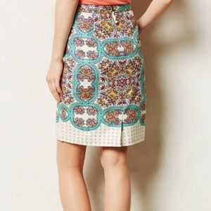Anthropologie Maeve Manolya Linen Pencil Skirt